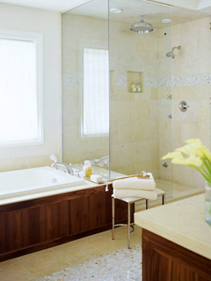 Small Bathroom Solution Glass Enclosed Shower Separate