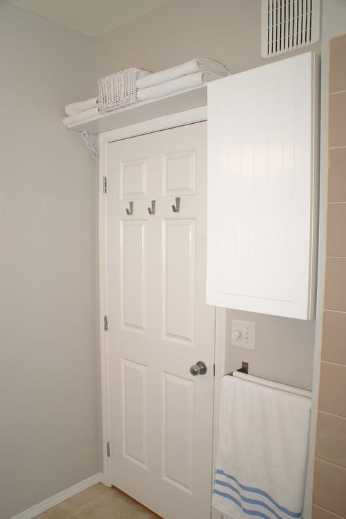 Shelf above bathroom door
