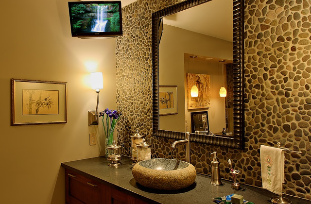 Small Bathroom Tv Contemporary Bathroom