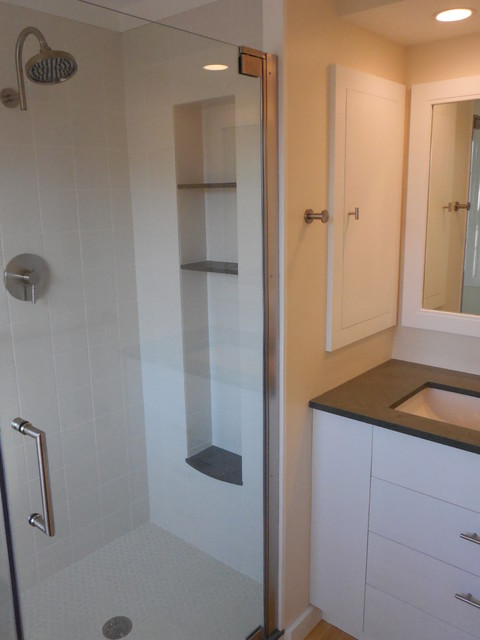 Small Bathroom Update Contemporary Bathroom Other By Craig Construction