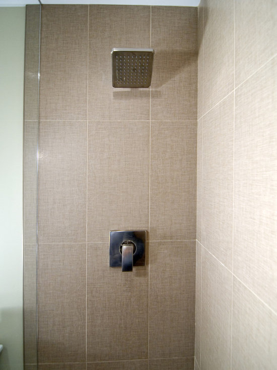 Linen tile bathroom