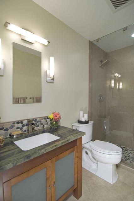 Small Bathroom with Big Style asian-bathroom