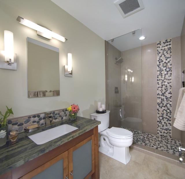 Small bathroom with big style for Asian small bathroom design