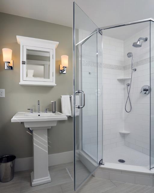 Beach House Bathroom Ideas   Small Beach House Lives Big Beach Style Bathroom Boston By