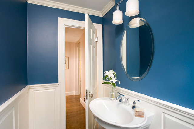 Small Blue Bathroom : Small Blue Bath - Traditional - Bathroom - boston - by Charlie Allen ...