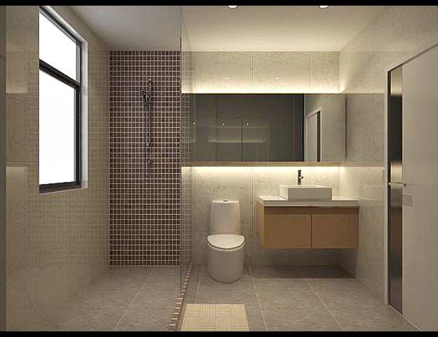 Small box for Modern small bathroom design
