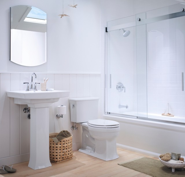 Small Coastal Bathroom Traditional Bathroom Other
