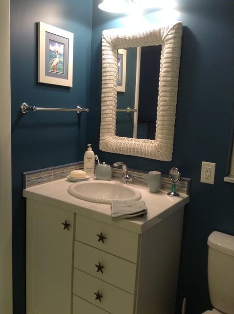 Small Coastal Bathroom Beach Style Bathroom By