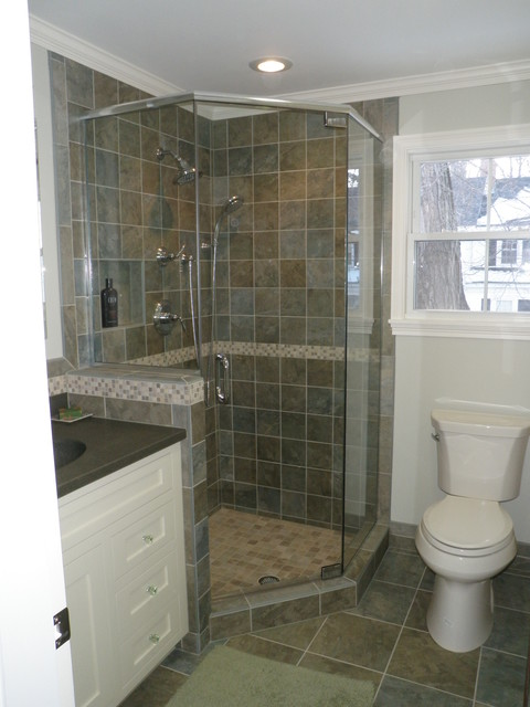 Small condo bathroom traditional bathroom manchester for Condo bathroom designs