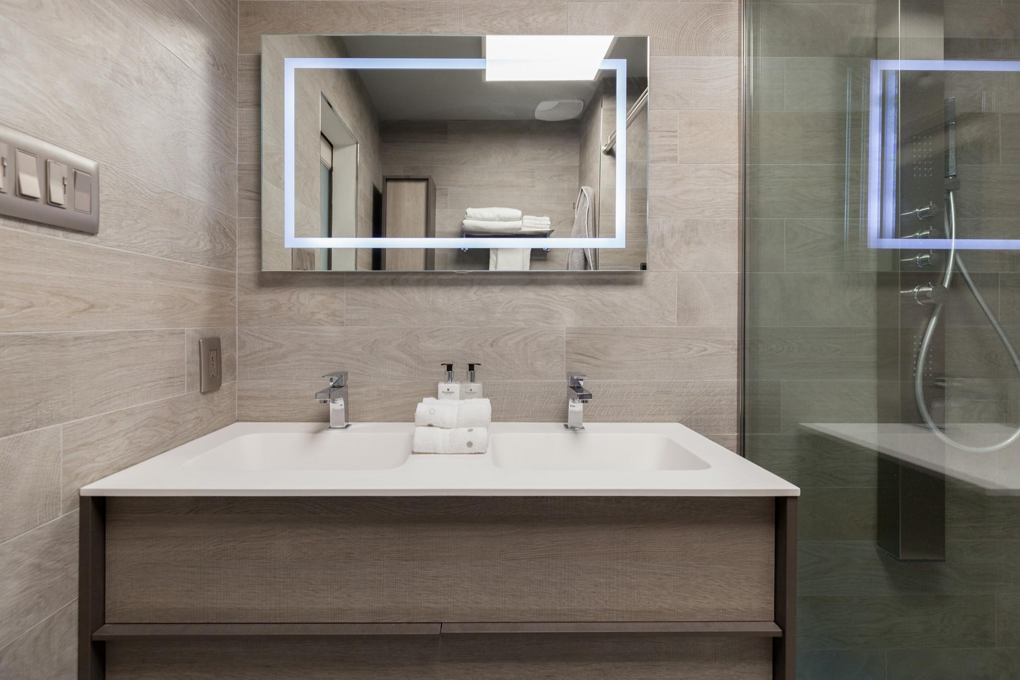 Small Contemporary Bath Renovation