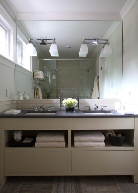 Clean lined bathroom modern-bathroom