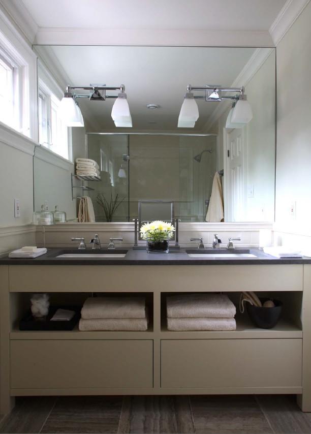 Small Double-Sink Bathroom - Modern - Bathroom - Toronto ...