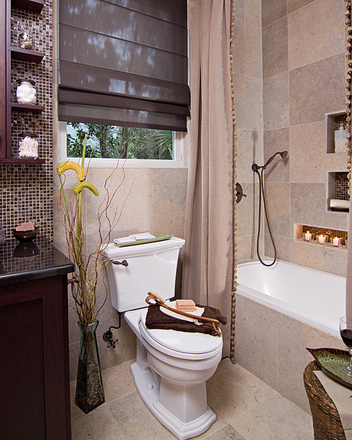 Small earthy bath remodel eclectic bathroom other - Small bathroom remodel with tub ...