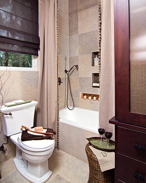 Small Earthy Bath Remodel