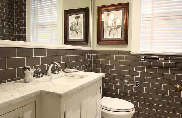 Small Elegant Bathroom Traditional Bathroom Dc Metro By NVS Remodeli