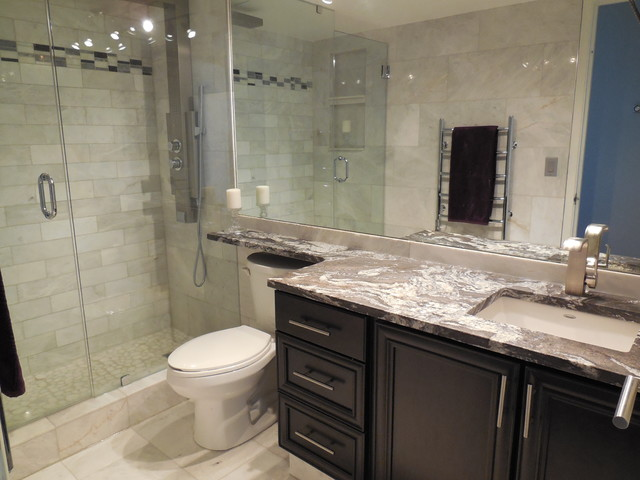 Small Kitchen Bathroom Reno Contemporary Bathroom Calgary