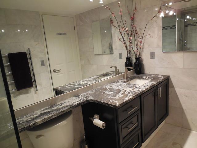 Small kitchen & bathroom reno contemporary-bathroom