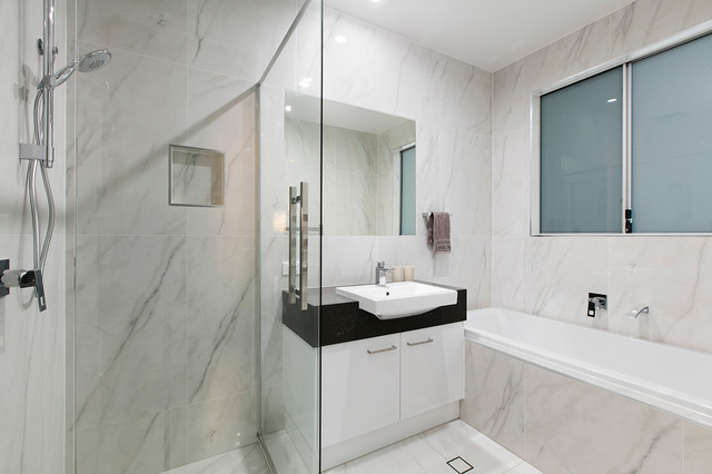 Small Lot House contemporary-bathroom
