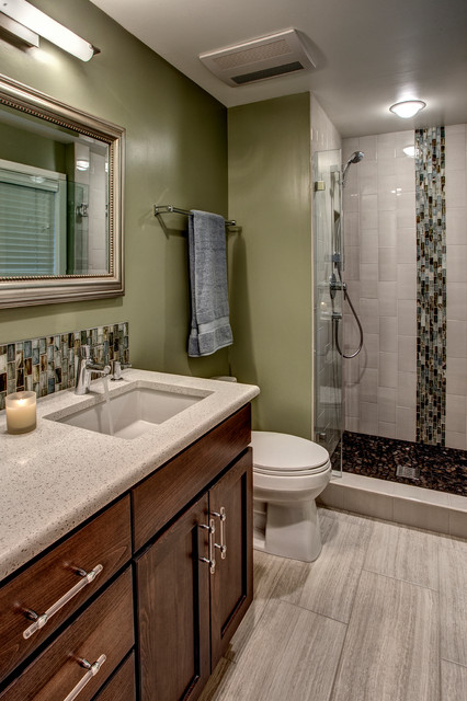 Small master bath bellevue contemporary bathroom seattle by provanti designs inc Bathroom design ideas houzz