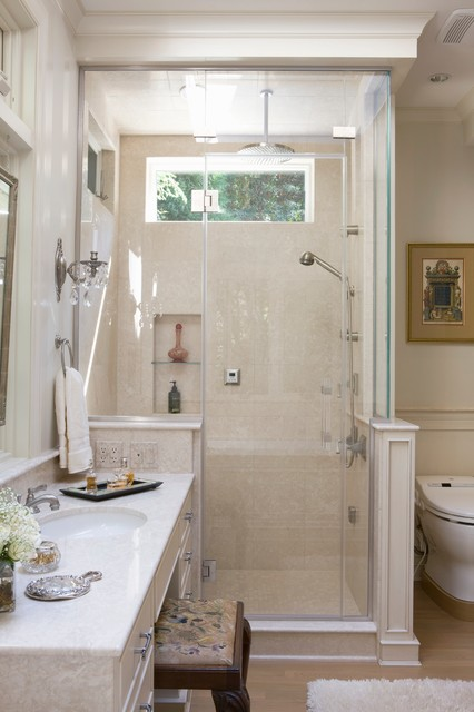 Small Master Bath In Chevy Chase Traditional Bathroom Dc Metro By Ant