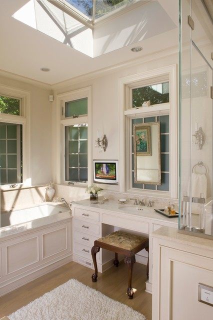 Small master bath in chevy chase traditional bathroom for Bathroom remodel under 5 000