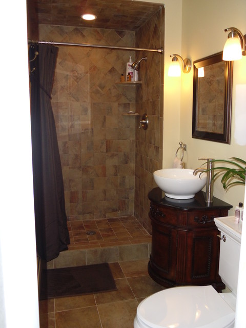 Small master bath remodel - Traditional - Bathroom - newark