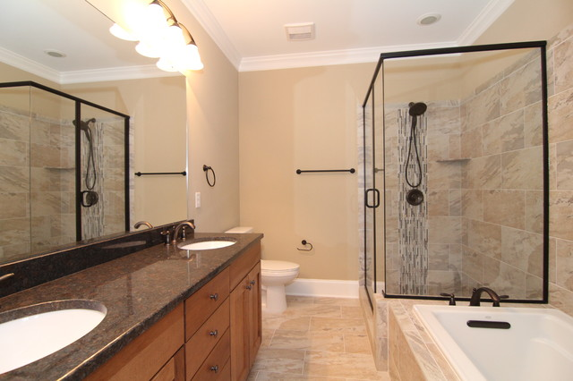 Small Master Bathroom Ideas Craftsman Bathroom Raleigh By Stanton Homes
