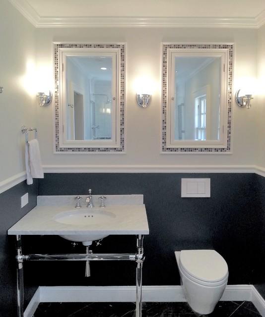 Small Master Bathroom Transitional Bathroom New York