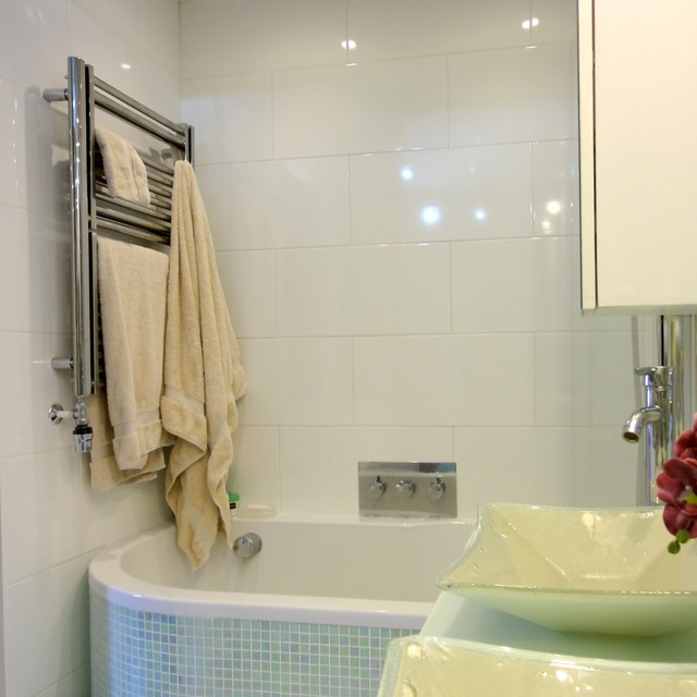 small mosaic bathroom modern bathroom london by philippa