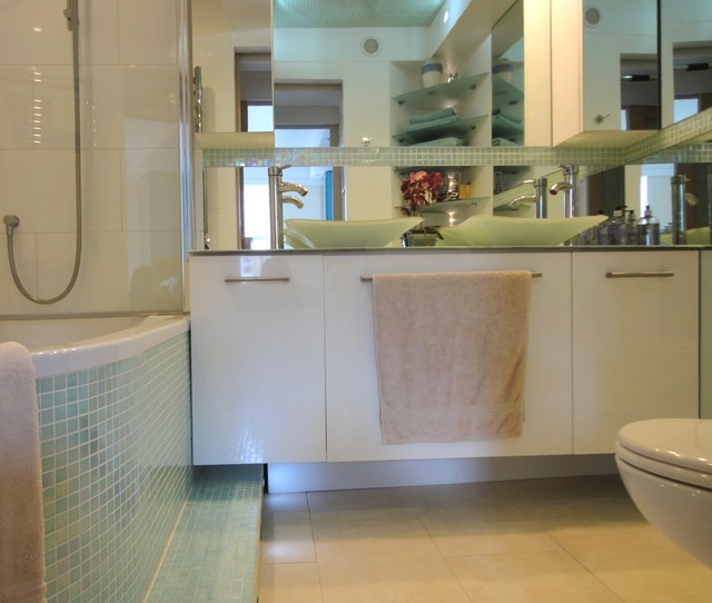 Small mosaic bathroom modern bathroom london by ace your space Bathroom design jobs london