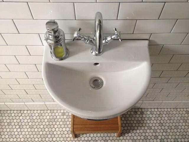 Small narrow bathroom remodel traditional bathroom for Bathroom remodel portland