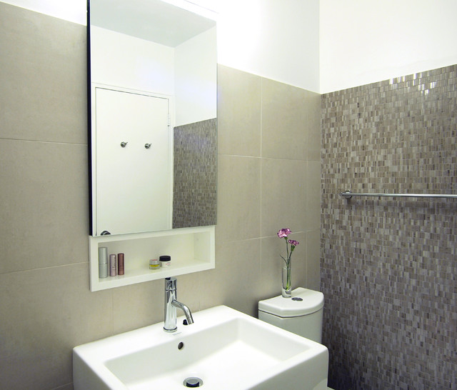 Small Nyc Bathroom Modern Bathroom New York By Studiohw Heather Weiss