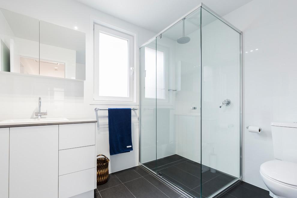 Small, Smart Canberra Renovation - Contemporary - Bathroom ...