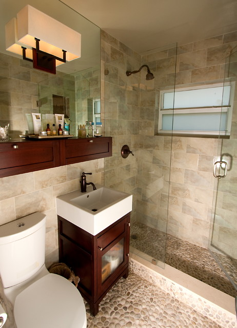 Small space bathrooms transitional bathroom miami for Bathroom photos for small bathrooms