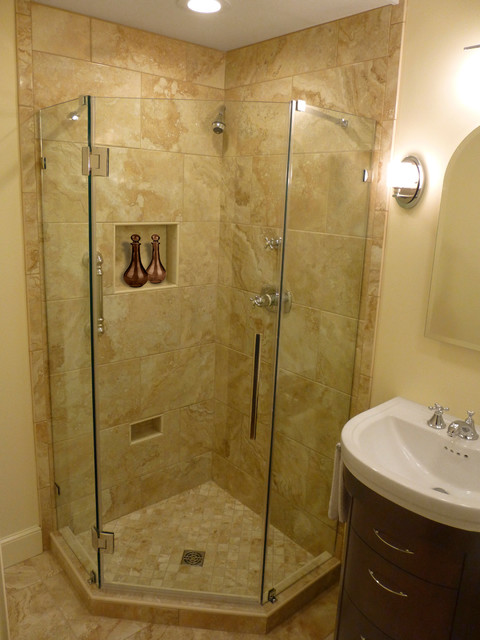Small space big impact master bath remodel by for Master bathroom designs small spaces