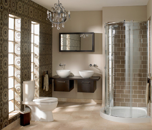 Small space big look bathroom for Small space bathroom designs
