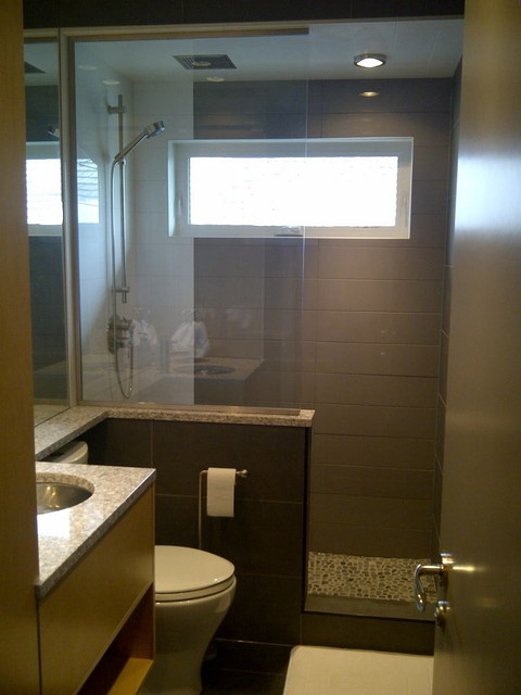 Small spaces bathroom contemporary bathroom calgary by cvk - Toilet design small space property ...