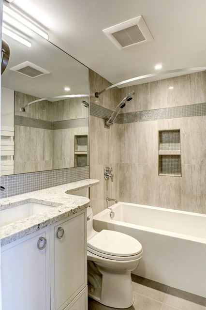 Small townhouse renovation contemporary bathroom for Townhouse bathroom designs