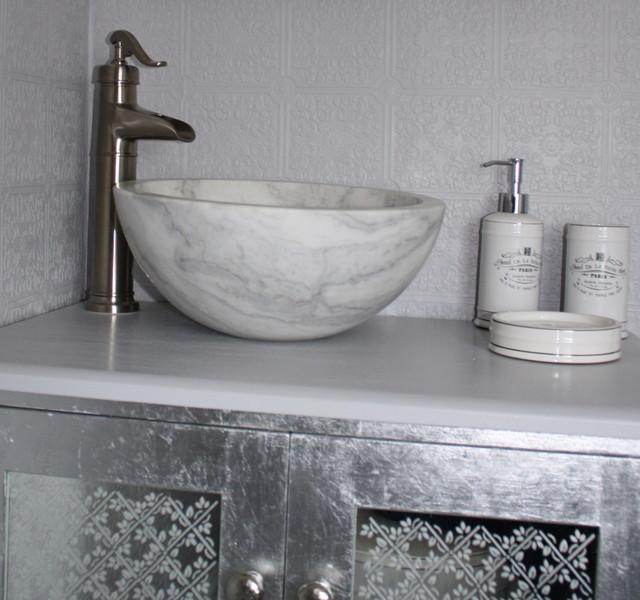 Small Vessel Sink Bowl Honed White Marble Contemporary Bathroom Cedar Rapids By Eden Bath Vessel Sinks Houzz