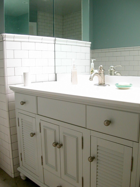 small white tiled baths studio kitchen beach style bathroom