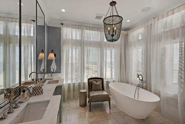 Snowman residence bord de mer salle de bain miami par geoff chick associates - Salle de bain bord de mer ...