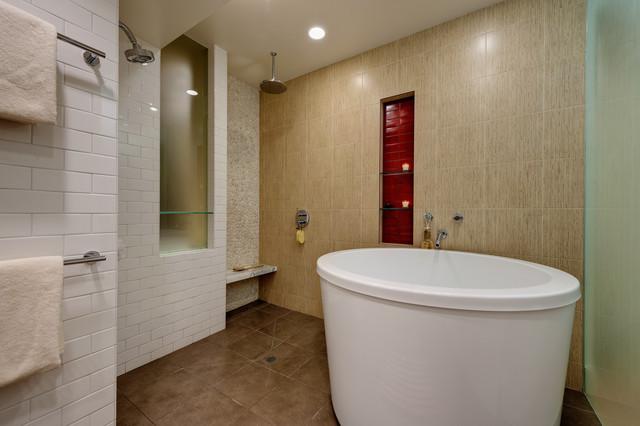 soaking tub and shower - Contemporary - Bathroom - san ...