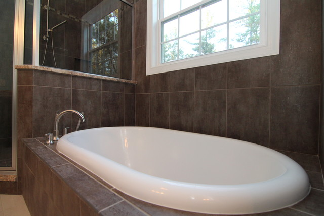 Soaking Tub Transitional Bathroom Raleigh By
