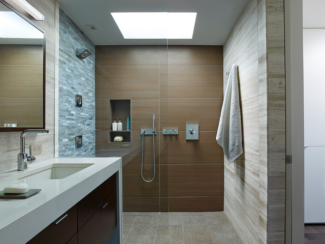 Society hill townhouse ii contemporary bathroom for Townhouse bathroom ideas