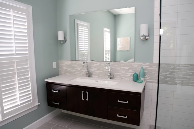 Sodo Wall Mounted Bathroom Vanity Collection Contemporary - Seattle bathroom vanity