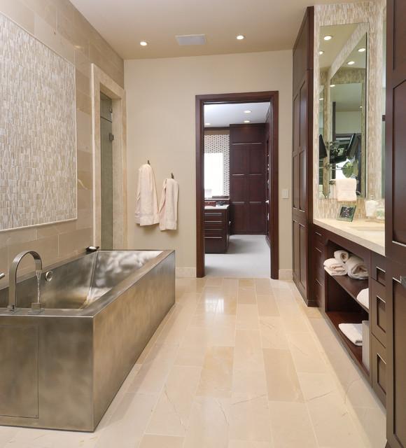 Soft contemporary contemporary bathroom oklahoma for Soft modern interior design