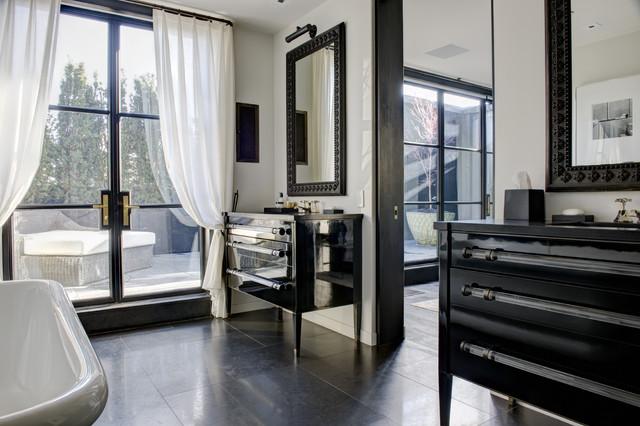 SOHO DUPLEX PENTHOUSE contemporary-bathroom