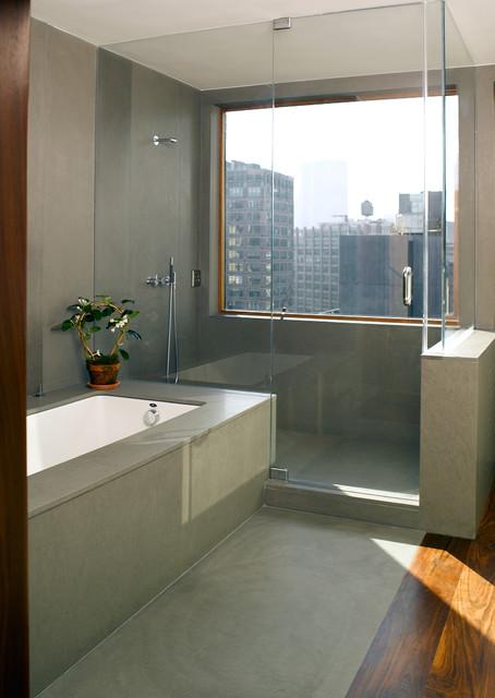 Soho Penthouse modern-bathroom