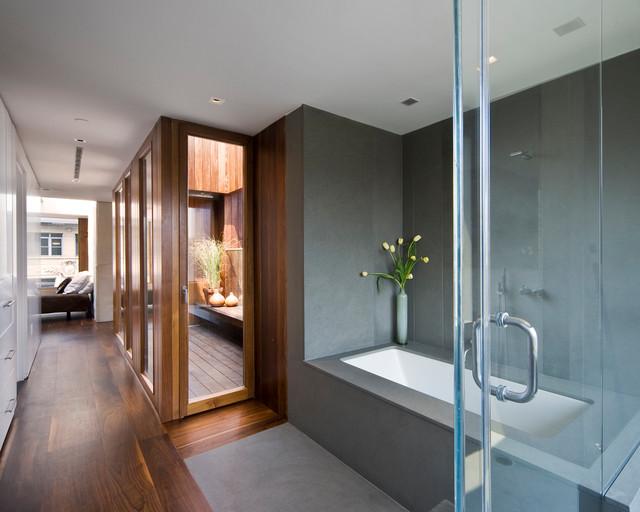 soho penthouse modern bathroom