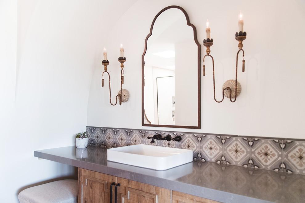 Solana Beach Spanish Modern Master Bath, Spanish Style Bathroom Sinks